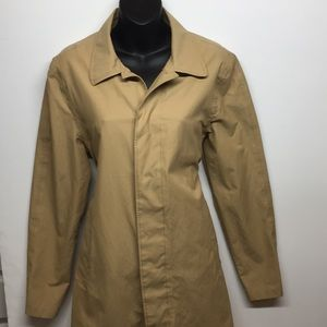 J. Crew khaki trench coat/car coat. XS Very Nice